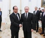 Путин и Олланд провели трехчасовые переговоры в Москве