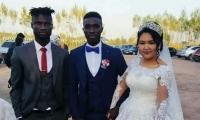 Горько! Африканский легионер ФК «Алай» женился на кыргызской девушке (фото)