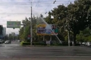 В центре Бишкека горожан радует огромный фонтан