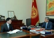 Президент Атамбаев призвал главу Нацэнергохолдинга решительнее искоренять коррупцию