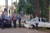 В Бишкеке произошло ДТП с участием автомобиля патрульной милиции