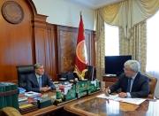 Президент принял председателя правления Кыргызско-российского Фонда развития