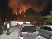 При пожаре в кафе на южных воротах никто не пострадал