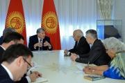 Атамбаев встретился с Государственным министром иностранных дел Индии