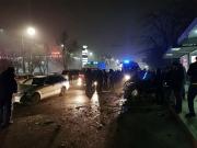 Жуткое ДТП в Бишкеке: столкнулись два Мерседеса