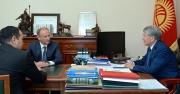 Президент Алмазбек Атамбаев принял секретаря Совета безопасности России Николая Патрушева