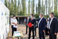Строящаяся в Ала-Букинском районе школа будет сдана в эксплуатацию до конца года