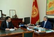 Президент КР Атамбаев сегодня принял секретаря Совета обороны Темира Джумакадырова