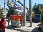 Возле Орто-Сайского рынка демонтировали 12 павильонов