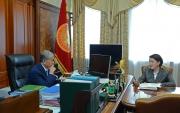 Президент принял главу Центральной комиссии по выборам и проведению референдумов