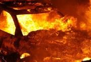 Водитель погиб в горящей машине во время ДТП