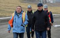Садыр Жапаров сегодня ознакомился с работой рудника «Кумтор»