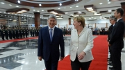В малом зале Госрезиденции «Ала-Арча» началась встреча Атамбаева и Меркель