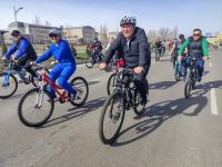 В Бишкеке состоялся первый в 2021 году велопробег