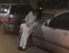 Пьяная девушка, попавшая в ДТП, не устояла на ногах (видео)