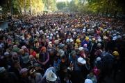 Порядка 7 тыс. человек пришли на встречу с лидерами партии «Республика-Ата Журт» в Кара-Бууринском районе Таласской области