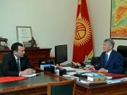 Одна из первых встреч президента после отпуска – с секретарем Совета обороны КР