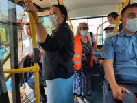 Рейд в Бишкеке показал, что почти 90% пассажиров троллейбусов соблюдают санитарно-эпидемиологические требования