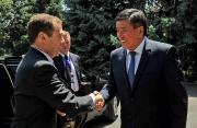 В госрезиденции «Ала-Арча» завершились протокольные встречи премьер-министров Кыргызстана и России